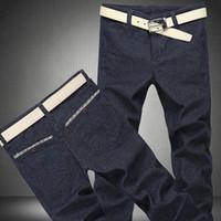 Men linen pants - 2015 New Arrival Plus Size Pants Men Cotton Linen Casual Pants Slim Straight Men s Pants Thickening Full Length Trousers