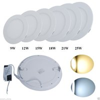 Wholesale Dimmable Led Panel Light SMD W W W W W W LM V Led Ceiling lights spotlight downlight lamp driver