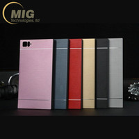 al sales - Protective Smart Phone Cases for Xiao Mi2 Mi3 Mi4 Mi5 Red Mi Mobile Phone Cases AL Metal Brushed Material for Sale MT M001