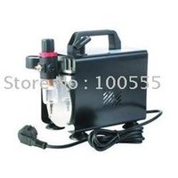 Wholesale Freeshipping HP Single Cylinder Piston AC mini Airbrush Compressor with metal shell DH18B