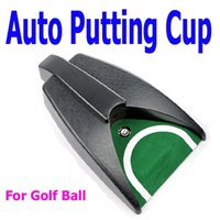 Wholesale Hot Sale Golf Ball Kick Back Automatic Return Putting Cup Device Training Aid