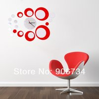 acrylic packaging watch - Mirror Wall Clock d Crystal Mirror wall watches michael wall clocks Red Rounds Wall Clock Modern Design Luxury