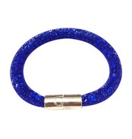 Wholesale 2016 New Mix Leather Wrap Wristband Cuff Punk Magnet Buckle Alloy Bracelets Bangles for Women AC046