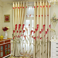 Wholesale 2015 Promotion Special Offer Woven Curtains For Home Window Tulle Decoration Dyed Simple Blind Bedroom Curtains Calla Screen