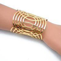 arms wide open - Retail Fashion Punk Gold Wide Cater Love Bangles Bracelets Bileklik Arm Cuff Opened Jewelry for Women Pulseras