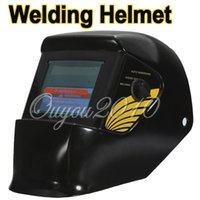 Wholesale Black Solar Welding Helmet Auto Darkening ARC Mig Tig Mag Spot Argon Arc Welding Grinding For Welder Mask