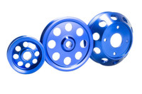 Wholesale PQY STORE LIGHTWEIGHT CRANK PULLEY For Nissan SILVIA S14 S15 SR20 PULLEY BLUE