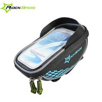 baffle bag - 5 quot Bicycle Cycling Frame Tube Panniers Waterproof Touchscreen Phone Case Reflective Bag With Shade Baffle Colors