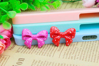 Cheap Free Shipping 50PCS Flatback Dots Knot Bow for Girls Hair Jewelry DIY Decoration Resin Cameo Crafts Deco Embellishments