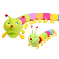 Wholesale S5Q Plush Toy Doll Colorful Inchworm Soft Lovely Developmental Child Baby Pillow AAAEHI