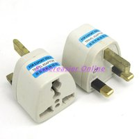 Wholesale 10pcs AU US EU to UK British Standard Travel Charger AC Power Adapter Converter Plug Connectors Sockets