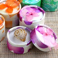 Wholesale x cm Mix Color Round Jewelry Packaging Ring Gift Box Birthday New Year Chrismas Party Gift Box