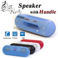 2.1 best gifts speaker - Best Gift Mini Speaker Pill XL Bluetooth Protable Wireless Stereo Audio Super Bass B50 Disk TF Car Phone Handsfree MP3 Player With Handle