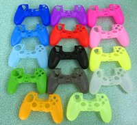 Wholesale New Soft Silicone Gel Rubber Case Skin Grip Cover For SONY Playstation PS4 Controller