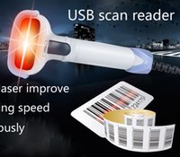 Wholesale High Scaned Speed Portable Losar Barcode Scanner Reader Gun with USB Cable for Supermarket and POS System