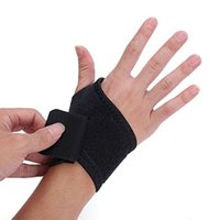 adjustable wrist brace - Free Size Black Blue Pair Adjustable Wristband Compression Wrist Brace Strap Wrap Bandage Gym Arthritis Support
