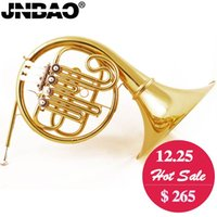 Wholesale Professional JIO JBFH French Horn B Flat Separated Bell brass body key French horn entry model Gold Lacquer instruments