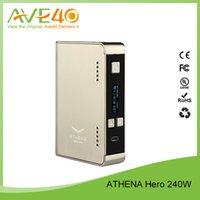athena kits - Authentic Original ATHENA Hero W TC Box Mod VS Athena eNVy22 W TC Box Mod Fit Joyetech CUBIS Atomizer Kit ml