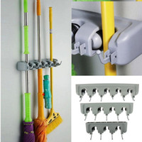 Wholesale Kitchen Wall Mounted Hanger Storage Position Mop Brush Broom Organizer Holder Useful ABS Home Storage Tool Drop Ship FG08165