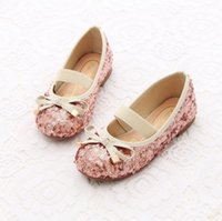 Wholesale 2015 autumn spring summer and winter childrens girls Sequins warm bow Plush shoes LY