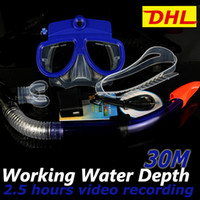 Wholesale DHL FREE Underwater Camera M Depth Built in GB Memory hours Video recording Digital DVR Video Camera Diving Mask Scuba Snorkeling