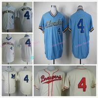 milwaukee - Milwaukee Brewers Jersey Paul Molitor Jersey White Blue Stitched Throwback Baseball Jersey