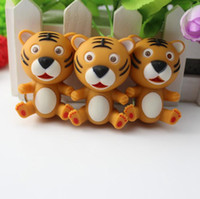 animal sounds tiger - 2015 Newest Baby Tiger Flashlight Keychains LED Keyrings with Sound for Kids