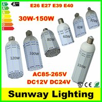 24v e27 led - High Lumens E26 E27 E39 E40 LED Corn light Bulbs w w w w w w w SMD5730 garden warehouse parking lamps