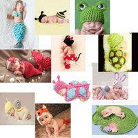 photo props - Baby Infant Animal Crochet Knitting Costume Soft Adorable Clothes Photo Photography Props Hats Caps for Month Newborn D1568