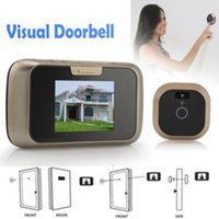 Wholesale Brand Motion Detection Digital Door Peephole Viewer For Sale High Quality quot LCD IR Day Night Vision Color Door Views