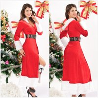 Wholesale Sexy Women Christmas Costume Uniform Winter Long Performance Clothing Women Cosplays Costumes Dress W3894