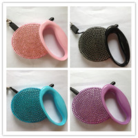 Wholesale hand made Automatic Retractable Dog Leashes lead Luxury Diamond Covered High Quality five colors