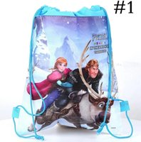 Wholesale 1404L hot frozen drawstring bags kids backpacks handbags children school bags kids shopping bags present frozen backpack