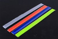 Wholesale Bike Cylcing Leg Pants Band Strap Reflective Belt without any printing colors available Shipped By DHL A