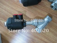 angle seat valves - DN25 Stainless Steel Pneumatic Angle Seat Valve With mm Plastic Actuator