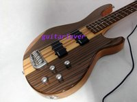 Wholesale Custom Shop Strings Bass Guitar zebral wood Electric Bass pieces Neck Guitars
