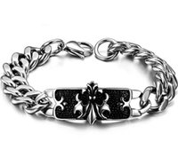 jewellery for sale - Hot Sale Fashion Jewellery Stainless Steel Bracelet With Black Oil For Men GS616