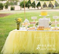 Wholesale Custom Make Colors Wedding Tulle Tutu Table Skirt Birthdays Dessert Station Skirt Baby Showers Parties Table Decoration For Wedding