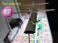 Wholesale Super Thin Led Aquarium Light cm long White Red BlueTwo rows with On Off Switches