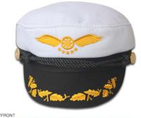Wholesale Navy Sailor Cap Captain Hat Black White Red Color For Men Women