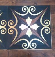 Wholesale Ebony floor Profiled wood floor Copper wood floor Mosaic floor Combination floor High end custom floor Design House floor Jade inl