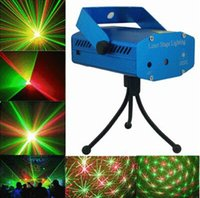 Wholesale Mini Laser Stage Lighting Holiday Sale Blue Black mW Mini Green Red Laser DJ Party Stage Light Black Disco Dance Floor Lights