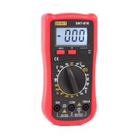 venda por atacado digital ammeter and voltmeter-1999 dígitos Novo Utilizador Use Voltímetro Amperímetro Multitester Com LCD Backlight Multímetro Digital DMM SNT818