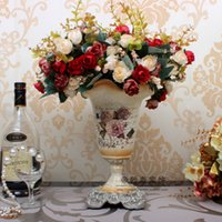 Cheap European high-grade small vase wedding gift flowers into the living room coffee table ornaments crafts home decorations Desktop