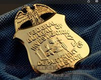 badge stock - US FBI Department of Justice Eagle Metal Badge In Stock Fast Ship Perfect Quality Metal Badges