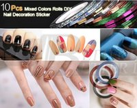 Wholesale new fashion set Mixed Colors Nail Rolls Striping Tape Line DIY Nail Art Tips Decoration Sticker Nails