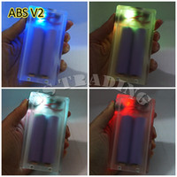 box light - ABS V2 Mod Box Clear color E Cigarette Box with Colorful Light Vapor Box Acrylic ABS V2 Box Top In Stock VS Dimitri Box Clouper Mod