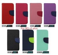 Para BQ x5 más la caja de lujo del teléfono móvil del soporte de la carpeta del cuero del tirón para Alcatel PIXI 4 3,5 pulgadas ZTE Blade A475 V7