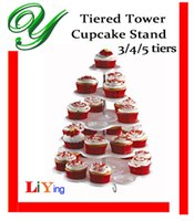 Wholesale Cupcake Holder Stand tower lollipop Display plastic white carrier tiers plates wedding Party Decorations Kids Birthday Event Supplies