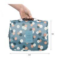 Wholesale Free DHL Candy Color KORENKAB Unisex Floral Printed Bag Organizer Cosmetic Waterproof Hanging Storage Bag Foldable Handbag Makeup Bag